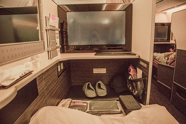 japan airlines - business class dfw to nrt