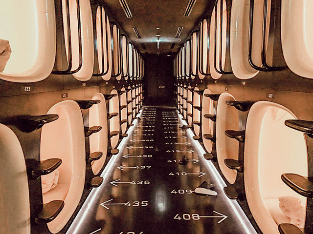 capsule hotel tokyo - acupofowl